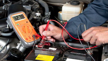 testing car battery mechanic auto